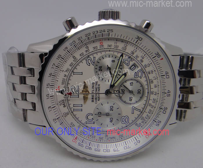 High Quality Breitling Chronometre Navitimer White Face Watch
